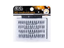 Falsche Wimpern Ardell 3D Individuals Duralash Knot-Free 56 St. Short Black
